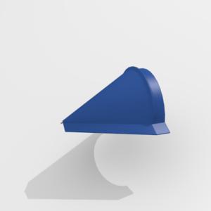 Заглушка конька конусная для металлочерепицы Pe Ral 5005