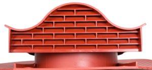 Аэратор (вентиль) кровельный Vilpe Huopa KTV красный