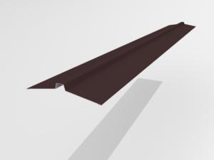 Конек угловой для металлочерепицы Pe Ral 8477 113*25*113 мм