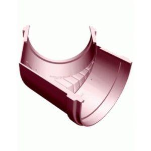 Угол желоба Murol (Eslon) 135° красный, на резиновых уплотнителях