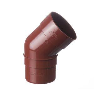 Колено трубы 45˚ Docke Premium 120/85 Гранат