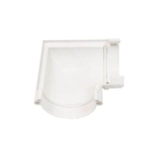 Угол желоба Murol (Eslon) 90° белый, на резиновых уплотнителях