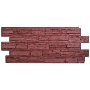 Сайдинг цокольный T-Siding Альпийская Скала коричневый