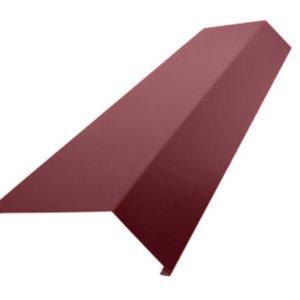 Планка карнизная для мягкой кровли S1 Pe RAL3005