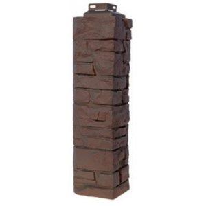 Угол наружный для Цокольного сайдинга FineBer Скала Желто-коричневый