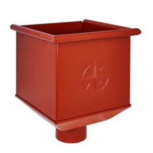 Воронка водосборная Aquasystem 125/90 RR29 Красный