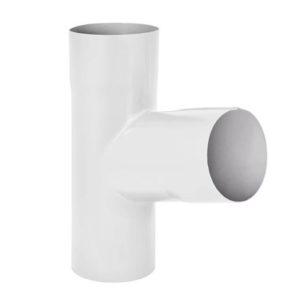 Тройник трубы Aquasystem 125/90 RR20 Белый