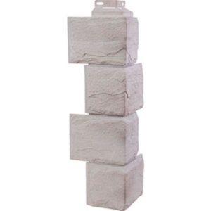 Угол наружный для Цокольного сайдинга FineBer Камень Природный Жемчужный