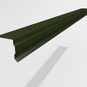 Планка торцевая (ветровая) для металлочерепицы Pe Ral 6415