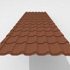 Металлочерепица Итерпрофиль Rough texture Pe Матовый 0,45 мм RAL 8620