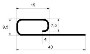 Финишная планка Grand Line Белый