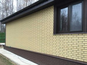"""Фасадная панель Nordside """"Гладкий кирпич"""" Желтый"""