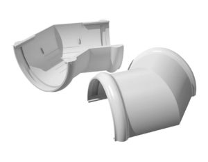 Угол желоба 135˚ Verat Технониколь 125/80 Белый
