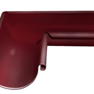 Угол желоба внутренний 90° Grand Line 125/90 RAL 3005 Красное вино