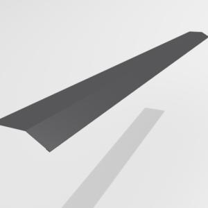 Планка карнизная (капельник) для металлочерепицы Pe Ral 7024