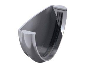 Заглушка желоба Verat Технониколь 125/80 Серый