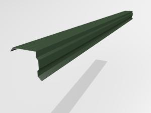 Планка торцевая (ветровая) для металлочерепицы Pe Ral 6005
