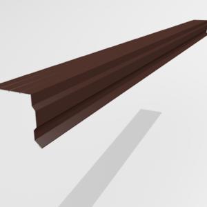 Планка торцевая (ветровая) для металлочерепицы Pe Ral 8017