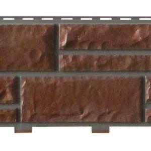 Цокольный сайдинг Доломит прокрашенный Темно-коричневый