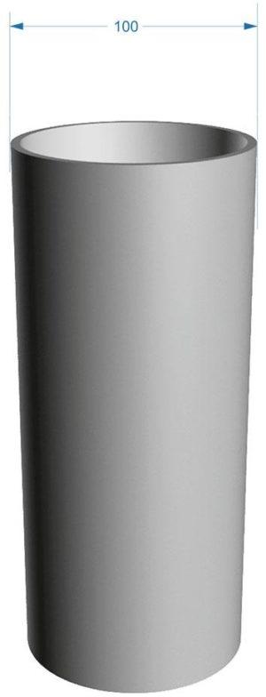 Труба водосточная Docke LUX 141/100 Пломбир, 3 м