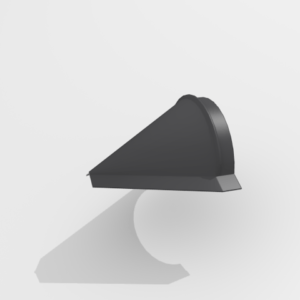 Заглушка конька конусная для металлочерепицы Pe Ral 7024