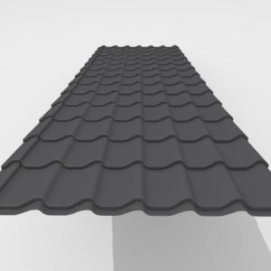 Металлочерепица Итерпрофиль Rough texture Pe Матовый 0,45 мм RAL 7591