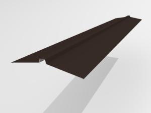 Конек угловой для металлочерепицы Pe Ral 8019 165*25*165 мм