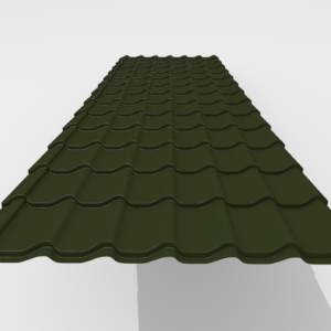 Металлочерепица Итерпрофиль Rough texture Pe Матовый 0,45 мм RAL 6490