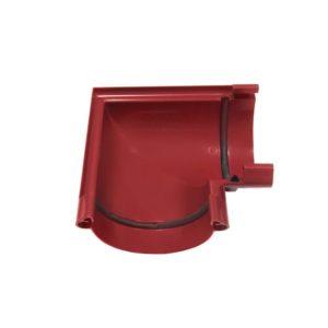 Угол желоба Murol (Eslon) 90° красный, на резиновых уплотнителях