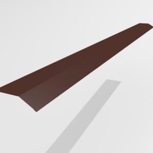 Планка карнизная (капельник) для металлочерепицы Pe Ral 8017