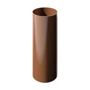 Труба водосточная Verat Технониколь 125/80 Коричневый глянец, 3 м