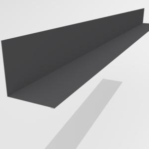 Планка примыкания для металлочерепицы Pe Ral 7024