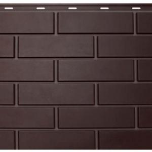 """Фасадная панель Nordside """"Гладкий кирпич"""" Темно-коричневый"""
