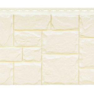 Фасадная панель GrandLine Крупный камень Молочный