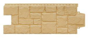 Фасадная панель GrandLine Крупный камень Песочный