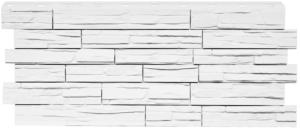 Фасадная панель Nordside Сланец Белый