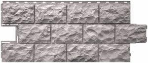 Фасадная панель Фасайдинг Дачный (FineBer) Доломит Светло-серый