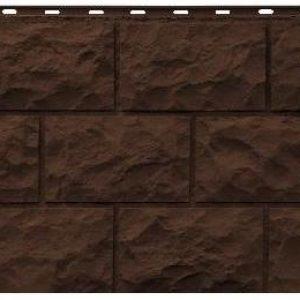 Фасадная панель Фасайдинг Дачный (FineBer) Доломит Темно-коричневый