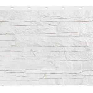 Фасадная панель Фасайдинг Дачный (FineBer) Скала Белый
