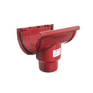 Воронка желоба центральная Murol (Eslon) красная, на резиновых уплотнителях