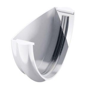 Заглушка желоба Verat Технониколь 125/80 Белый
