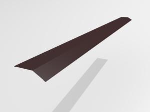 Планка карнизная (капельник) для металлочерепицы Pe Ral 8477