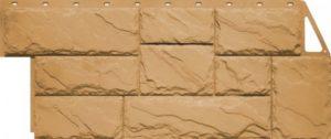 Сайдинг цокольный FineBer Камень крупный Песочный