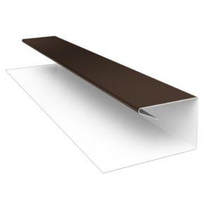 J-профиль Металлический шоколад (8017)