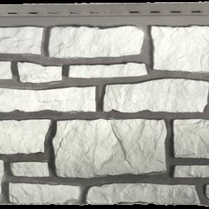 "Фасадная панель Nailite ""Бутовый камень"" Белый"