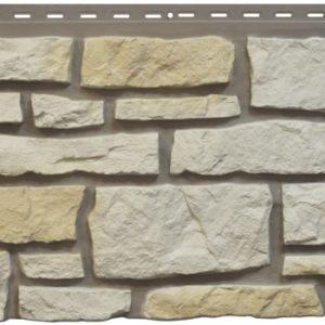 """Фасадная панель Nailite """"Бутовый камень"""" Песочно-белый"""