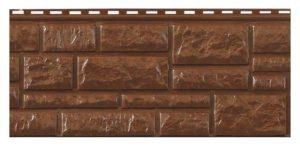 Цокольный сайдинг Доломит RockVin Темно-коричневый