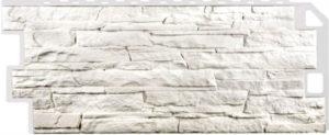 Сайдинг цокольный FineBer Скала Мелованный белый