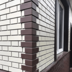 Фасадная панель Альта-Профиль Кирпич Клинкерный Белый