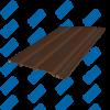 Софит Tecos Каштан Темный сплошной (без перфорации)